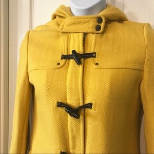 American Eagle Outfitters Jackets & Coats - American Eagle Wool Blend Long Pea Coat Yellow Med
